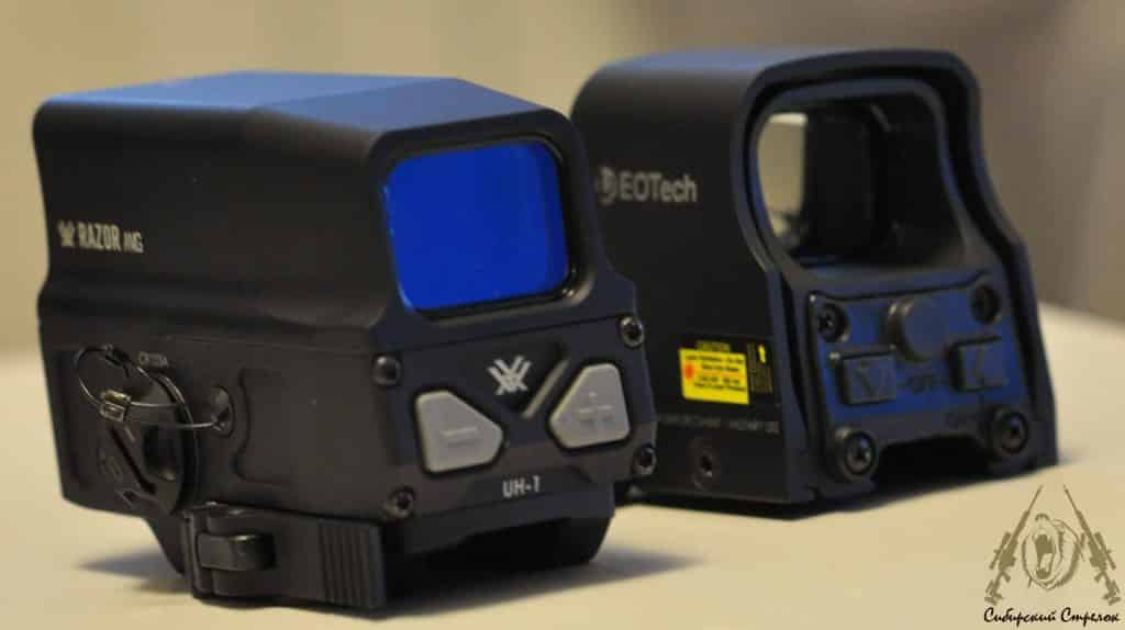 Review and Comparison of Vortex Optics Razor AMG UH1 Holographic Sight vs Eotech XPS2-2 47