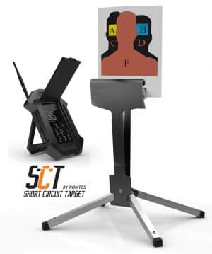 SCT PRO Romtes Technologies Wireless Target System - Fully Mobile Armor Protected Stand and a Personal Display Device 1
