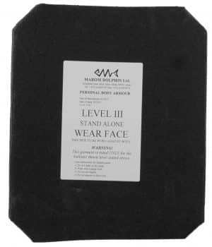 Ceramic Plate Protection Level IV (4) Stand alone 87