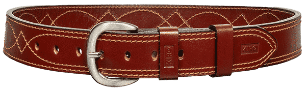 KIRO MOAB DS Premium Heavy Duty Dress Stitched Handmade Leather Belt for Gun Carry 1