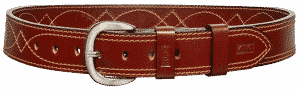 KIRO MOAB DS Premium Heavy Duty Dress Stitched Handmade Leather Belt for Gun Carry 12