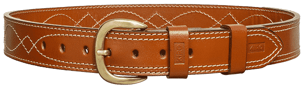 KIRO MOAB DS Premium Heavy Duty Dress Stitched Handmade Leather Belt for Gun Carry 3