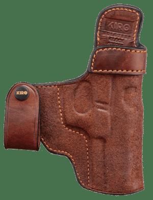 """KIRO """"Reholster IWB"""" Concealed Handmade Leather Holster 3"""