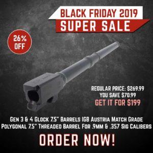 Black Friday 2019 YRSinc - Gen 3 & 4 Glock 7.5 Barrels IGB Austria Match Grade Polygonal 7.5 Threaded Barrel For .9mm & .357Sig Calibers (YRS) 3