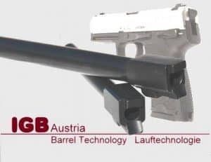 IGB Austria custom barrel for HK USP - .40S&W, 9x19, 9x21 & .357Sig 9