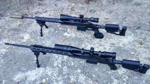 ZFIInc KPYK CRC 7U001 Cerakote Coated chassis for Mosin-Nagant - Two Guns Angled 3