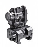 FRS CAA Picatinny Low profile rear flip-up sight 10