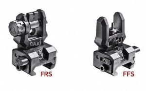 FFS + FRS CAA Picatinny Front flip-up sight + Low profile rear flip-up sight 13