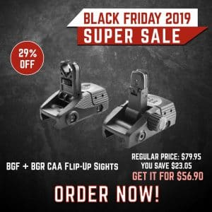 Black Friday 2019 YRSinc - BGF + BGR CAA Picatinny Front and Rear Flip-Up Sights (New)(YRS) 3