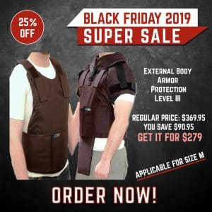 Black Friday 2019 YRSinc - External Body armor protection level III-A with option for detachable add-ons(YRS) 3