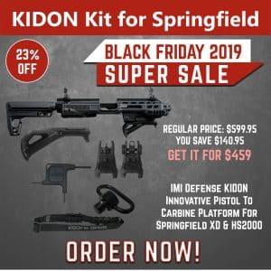 Black Friday 2019 YRSinc - IMI Defense KIDON Innovative Pistol to Carbine Platform for Springfield XD & HS2000(YRS) 3