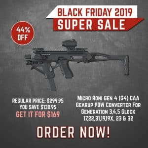 Black Friday 2019 YRSinc -Micro Roni Gen 4 (G4) CAA Gearup PDW Converter for Generation 3,4,5 Glock 17,22,31,19,19X, 23 & 32 (YRS) 3