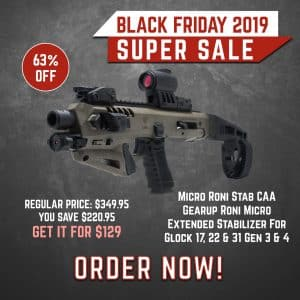 Black Friday 2019 YRSinc - Micro Roni Stab CAA Gearup Roni Micro Extended Stabilizer For Glock 17, 22 & 31 Gen 3 & 4 (YRS) 3