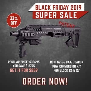 Black Friday 2019 YRSinc - RONI G2-26 CAA Gearup PDW Conversion Kit For Glock 26 & 27 (YRS) 3