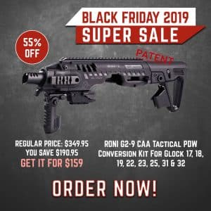 Black Friday 2019 YRSinc -RONI G2-9 CAA Tactical PDW Conversion Kit For Glock 17, 18, 19, 22, 23, 25, 31 & 32 (YRS) 3