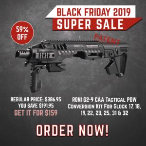 Black Friday 2019 YRSinc - RONI G2-9 CAA Tactical PDW Conversion Kit for Glock 17, 18, 19, 22, 23, 25, 31 & 32 (YRS) 3