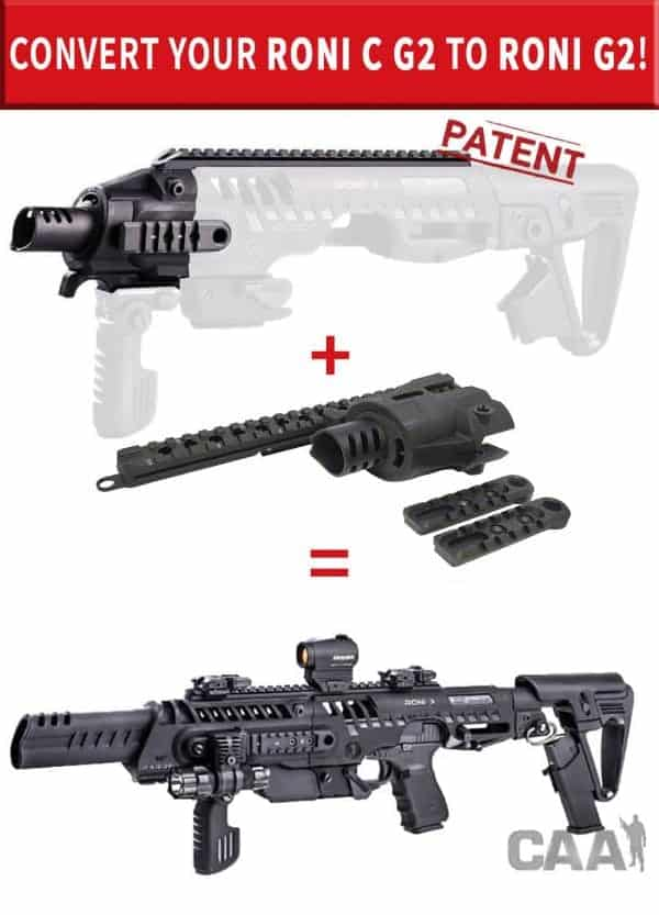 Roni C G2 Glock 17, 22, 31 CAA Industries Aggressive Look Roni PDW Converter Kit with Long Muzzle 1