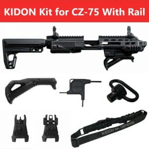 IMI Defense KIDON Universal Pistol Conversion Kit for CZ 75 with Rails and 2075 Rami 16
