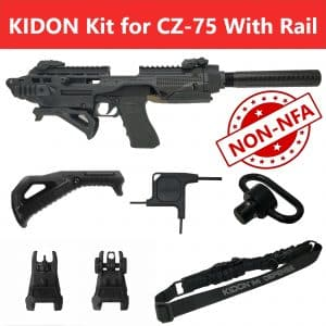 KIDON NON-NFA for CZ 75 With Rails, 2075 Rami (IMI Defense) 6