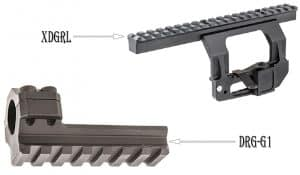XDGRL and DRG-D1 Upper and bottom picatinny rail for dragunov 3