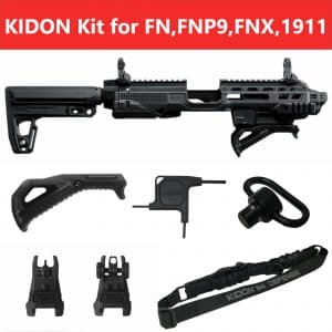 IMI Defense KIDON Innovative Pistol to Carbine Platform for FN,FNP9,FNX,1911 Wide Tail 15