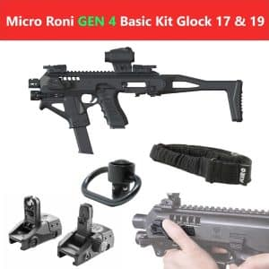 Micro Roni Gen 4 Basic Kit CAA Industries PDW Converter for Glock 17, 19 23, 23, 31 & 32 9