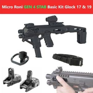 Micro Roni X Stab Gen 4 Basic Kit CAA Industries PDW Converter with Extended Stabilizer Stock (MIC-ROBAS4ST) 8