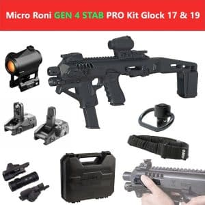 Micro Roni X Stab Gen 4 PRO Kit CAA Gearup PDW Converter Professional Kit with Extended Stabilizer Stock 18