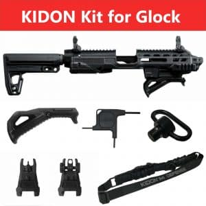 IMI Defense KIDON Innovative Pistol to Carbine Platform for Glock 17,19,22,23,25,29,30,31,32,36,38 Gen 3, 4 & 5 and Honor Guard 7
