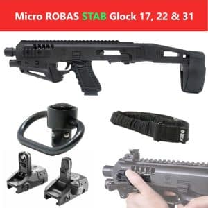 MIC-ROBAS STAB CAA Gearup Micro Roni® Stabilizer Basic Kit for Glock 17, 22 & 31 9
