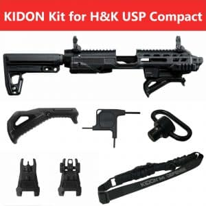 IMI Defense KIDON Innovative Pistol to Carbine Platform for H&K USP Compact & S&W M&P 2.0 19