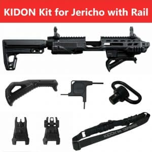 KIDON IMI Defense Innovative Pistol to Carbine Platform for Jericho Steel Frame With Picatinny Rail 18