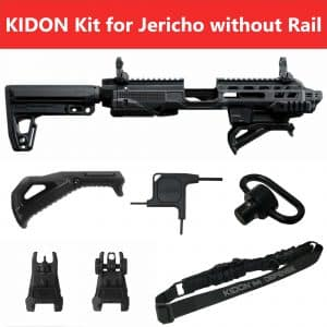 KIDON IMI Defense Innovative Pistol to Carbine Platform for Jericho Steel Frame Without Picatinny rail 19