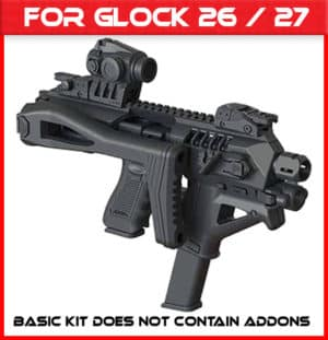 Micro Roni Gen 4 X CAA Industries PDW Converter For Glock 26 & 27 Gen 3,4,5 9