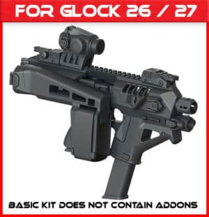 Micro Roni Glock 26 & 27 Stabilizer Gen 4 X CAA Industries NEWEST PDW Conversion Kit 1