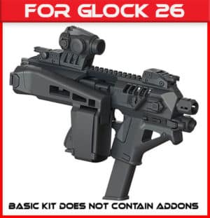 Micro Roni Glock 26 Stabilizer Gen 4 X CAA Industries NEWEST PDW Conversion Kit 1