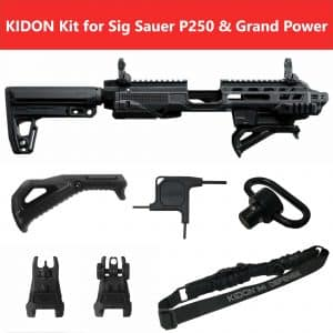 KIDON IMI Defense Innovative Pistol to Carbine Platform for Sig Sauer P250,P320 and Grand Power 7