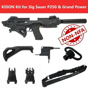 KIDON NON-NFA for Sig Sauer Sig Sauer 220,P250,P320,Grant Power 380,Q1,XCalibut,Tanfoglio Force Police (IMI Defense) 18