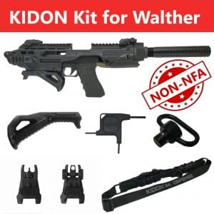 "KIDON NON-NFA for Walther PPQ 5"", 4""; 9mm/.40/.45 Calibers (IMI Defense) 22"
