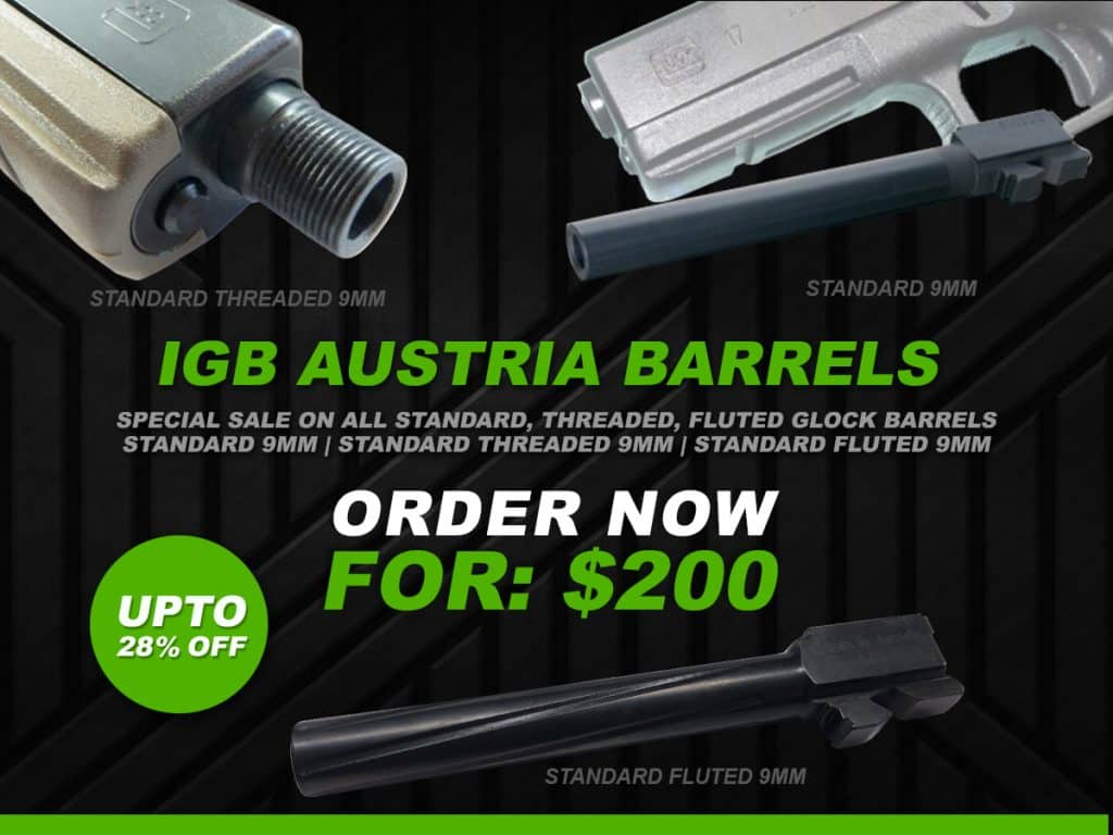 IGB Barrels Special Deal - Standard, Fluted, Threaded