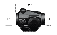 CF-RD2 Vortex Optics Crossfire 2 MOA Red Dot con Skeletonized Mount 3