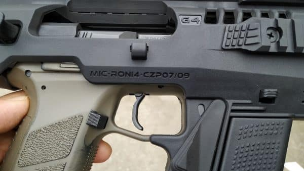 micro roni cz 07 09 trigger guard