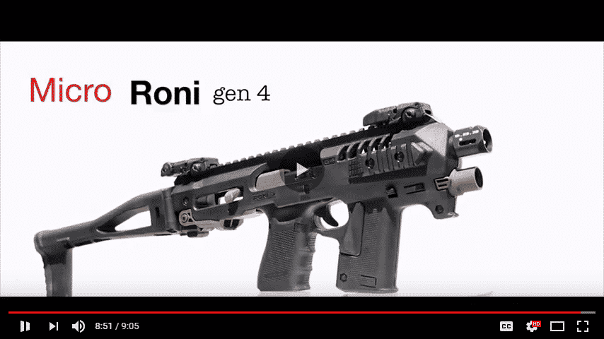 New Product: CAA Micro Roni Gen 4 for Generation 3,4,5 Glock 17,22,31,19,23 & 32 1