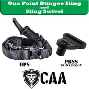 OPS+PBSS CAA Industries One Point Bungee Sling and Aluminum Swivel Adapter for Micro Roni and CAA Stocks 3