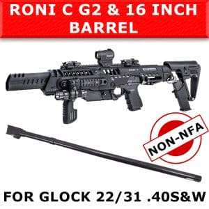 "NON NFA - CAA Roni C G2 & IGB 16"" Barrel for Glock 22 & 31 - .40 S&W 3"