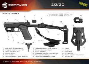 Recover Tactical 20/20 Stabilizer Conversion Kit for Glock 17,19