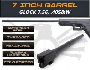 "Gen 5 Glock 7.5"" Barrels IGB Austria Match Grade Hexagonal Profile 7.5"" Threaded Barrel For 7.65 And .40s&W"