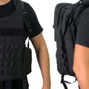 MASADA Armour MS_TACBAG Bulletproof Tactical Backpack Full Body Armor Bulletproof Vest 3A Protection Level Front On Two Sides - TACTICAL 3