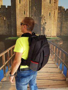 MASADA Armour MS_TACBAG Bulletproof Tactical Backpack Full Body Armor Bulletproof Vest 3A Protection Level On - Back Shot 3