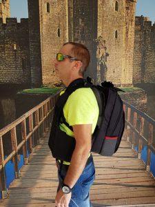 MASADA Armour MS_TACBAG Bulletproof Tactical Backpack Full Body Armor Bulletproof Vest 3A Protection Level On - Side Shot 3
